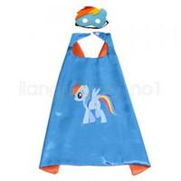2 pz / set unicorno mantelle maschera cosplay costume del fumetto unicorno bambini vestiti prestazioni dacing puntelli di halloween 9 stili 70 * 70 cm FFA1635