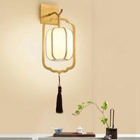 Nouveau style chinois lampe murale en cuivre tout en cuivre ménage salon TV rétro applique murale classique salon nordique chambre chevet éclairage led