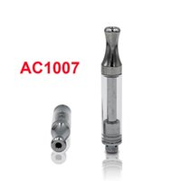 Empty AC1007 Cartridges 0.5ml 1.0ml Gold Ceramic Coil Pyrex Glass Tank Atomizer 510 Thick Cartridge Vaporizers For Preheat Battery