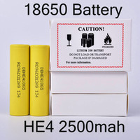 Rechargeable 18650 Battery HE4 2500mah 3. 6V 35A Lithium Batt...