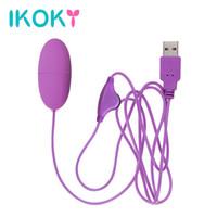 IKOKY мини пуля вибратор регулируемая скорость USB Vibromasseur секс игрушки для женщин мощный вибрационный яйцо клитор стимулятор C18122601