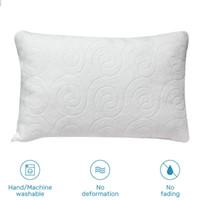 Almohada de fibra de bambú Memoria destrozada Almohada para cama Protección para el cuello Invisible Cremallera Cama Lavable Extraíble Enfriamiento