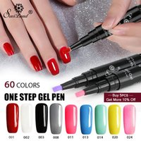 12pcs / lot 3 in 1 Gel Nagellack Stift Glitter Ein Schritt Nail Art Gel Polish Hybrid 60 Farben UV Gel Lack