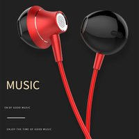 Metal earphone for phone with mic headset earpiece noise can...