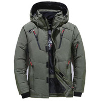 Зимняя куртка Мужчины Повседневная вниз Теплый капюшоном пальто Мужская мода Верхняя одежда Ветровки сгущает ветровки Casaco Марка Одежда Мужчина для Размер M-4XL