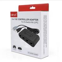 NGC 4 Port Gamecube GC Kontrolörleri için USB Adaptörü Dönüştürücü Nintendo Wii U için Nintendo Wii U PC NGC PC Oyunu Aksesuar için
