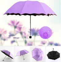 Vollautomatischer Regenschirm Unisex 3 Folding Light und Durable 8K Starke Regenschirme Kids Rainy Sunny Umbrellas Outdoor Gadgets CCA11780 30st