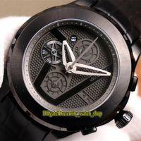 TNK Limit version Leica Valbray EL1 Oculus диафрагма жалюзи циферблат черный PVD стальной корпус 7750 автоматический хронограф мужские часы спортивные часы