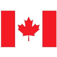 Großhandel direkter Fabrikpreis 100% Polyester 3x5fts 90 * 150cm CAN kanadisches Ahornblatt Kanada-Flagge von CA