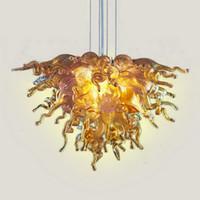 Малый размер Рука выдувное стекло Цветное Люстра Свет LED источник света AC 110V 240V стекла Подвеска Лампы для дома Отель украшения