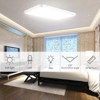 48W ultra ince kare LED tavan lambası salon tavan lambası sade modern İskandinav ev yemek sade, modern lambalar macarons yatak açtı