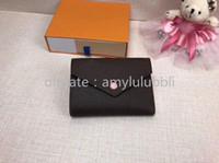la date porte-monnaie porte-monnaie en cuir design gros code court porte-monnaie pour les femmes porte-carte femmes boîte originale de poche zippée classique
