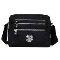 Fashion Womens Messenger Bags Waterproof Nylon Purses Top- ha...
