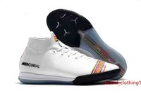 Mercurial Superfly VI 360 Chaussures de football Elite Neymar JR ACC INDOOR Chaussures de football Cristiano Ronaldo SuperflyX 6 Elite TF35-45 Football Crampons
