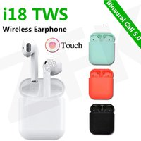 i18 tws Earphones Bluetooth 5. 0 Headphone Touch Control Blue...