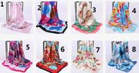 36colors Hijab Echarpe Femmes Imité Echarpes En Satin De Soie Foulard Carre Tete Carre 2019 Nouveau Mode Châle Fabricant 90 * 90cm