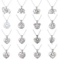 Collana con ciondolo a gabbia nuovo Love Wish perla d'acqua dolce naturale con collana di perle cave di design Oyster Pearl