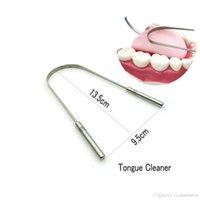 Nettoyant de grattoir en acier inoxydable Clean de nettoyage à couper le souffle frais de brosse à dents de la brosse à dents dentaires d'hygiène buccale dentaire