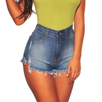 Short de femme weigou été femmes vintage denim taille haute taille solide pantalons de style europe jeans