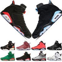 A buon mercato Nuovo 2019 Bred VI 6 6s Mens scarpe da basket a raggi infrarossi 23 3M riflettente Tinker Slam Dunk CNY Wheat Uomo Sneakers sportive Designer scarpe da ginnastica