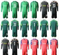 2019 2020 Uzun Kollu Yetişkin İl Futbol Formalar C. Bravo Kaleci krt Jersey 1. C. Bravo # 31 Ederson M. Erkekler Üniformalar Futbol Takımları