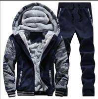 мужские antumn зимние спортивные костюмы мужчины твердые спортивная толстые куртки высокое качество мужская повседневная одежда D62