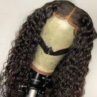 13 * 4 150% 180% Densidad descarado rizado pelucas llenas Ratio 360 de encaje frontal del cabello humano Remy Para brasileña sin cola baja blanqueados Nudos