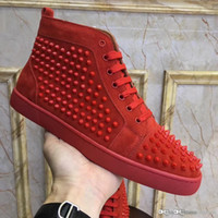 Top version Christi Loubou New Louiss Spike Sneaker in Capuc...