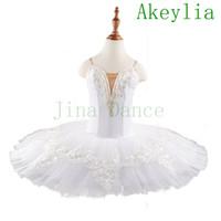 free shipping Professional White Swan Lake Ballet Tutu Costume Girls Children Ballerina Dress Kids Ballet Dress Dancewear Dance Dress