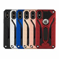 Custodia Hybrid Armor Custodia Cover telefono per Iphone XR XS Max X 8 7 Plus Samsung J7 J3 A6 2018 Note9 S 9 8 plus LG Aristo2 V30 Huawei OppBag