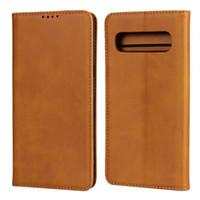 Элитная кожаный чехол для Samsung Galaxy Note 10 Plus 9 8 S10 S9 S8 A10 A30 A20E A30S A40 A50 A70 A80 A50S Бизнес Бумажник Обложка