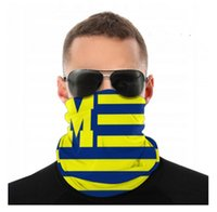 Michigan Wolverines Seamless Bandana Face Mask Dust Wind UV ...