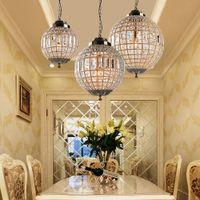 레트로 빈티지 로얄 제국 볼 스타일 큰지도 크리스탈 현대 샹들리에 램프 Lustres 조명 E27를 들어 거실 침실 욕실