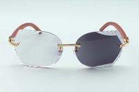 Новые резки многофункциональный объектив 8300817-C натуральные роскоши солнцезащитные очки и очки древесины оригинальные храмы фотохромные очки, 58-18-1 MKWD