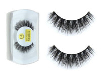 Olhos maquiagem 3D Mink Make up Cruz cílios postiços Eye Lashes Extensão Handmade natureza cílios cílios magnética a849