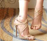 Diseñadores de lujo de la marca sandalias de la boda para la mujer J-M Lanza Blet sandalias, banquete de boda de las mujeres sandalias de tacón alto vestido atractivo de las mujeres 35-42
