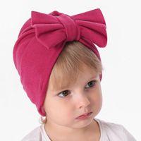 Bebek Kız Karikatür Düğüm ilmek Kış Sonbahar Beanie Şapka Çocuklar Şapkalar Fotoğrafçılık Dikmeler sarık Caps Moda Aksesuarları