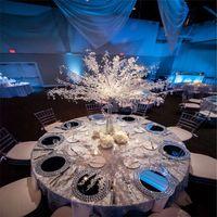 새로운 패션 90cm의 35inch 크리스탈 웨딩 테이블 아크릴 나무 중앙 장식품 웨딩 장식 파티 장식 이벤트 장식