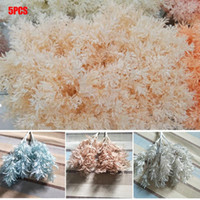 5Pcs Artificial Flower Bouquet Handmade Rime Flower Simulati...
