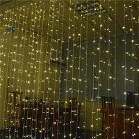 أضواء LED الستار جنية أدت سلسلة عيد الميلاد الباحة حفل زفاف الديكور نافذة أضواء سلسلة في الهواء الطلق للعام الجديد