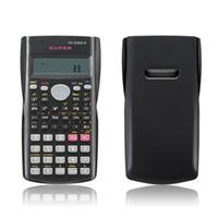 Calculadora científica de mano del estudiante Pantalla de 2 líneas 82MS-A Calculadora multifuncional portátil para enseñanza de matemáticas