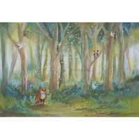 Oil Painting Forest Trees Newborn Baby Shower Backdrop Photo...