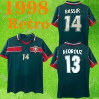Retro Classic 1998 Marocco calcio domestico Jersey 98 99 Maroc Hadji Bassir Ouakili Neqrouz ABRAMI annata classica maglia da calcio vecchio