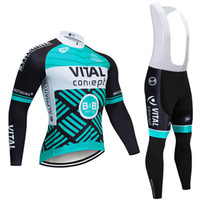 2019 New Vital Cycling Team Trikot Trägerhose Set Ropa Ciclismo Herren Winter Thermovlies Pro Bike Jacke Maillot Wear