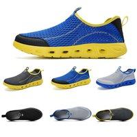 Бесплатная доставка женщин мужчины скольжения на кроссовки лето дышащий болотная обувь Конструктор тренеров кроссовки Самодельный бренд Сделано в Китае 39-44