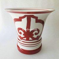 Kaliteli Kemik çini Vazo klasik Çin kırmızı vazo Yüksek seviyeli ev dekorasyon Düğün eve taşınma hediye