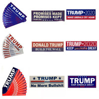 HOT Donald Trump 2020 Adesivi per auto 7.6 * 22.9cm Bumper Sticker Keep Make America Grande decalcomania per Car Styling Vehicle Paster New 11Styles