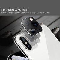 100pcs التي لفون X XS ماكس عدسة الكاميرا حامي تغيير لللحصول على 11 برو ماكس كاميرا حماية الزجاج المقسى عدسة