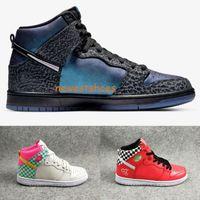 2019 Melhor Qualidade Ovelha Negra x SB Dunk Alto Preto Hornet Cleveland Arizona Homens Mulheres Basquetebol Sapatos Hi Prem Trompet Sports Sneakers
