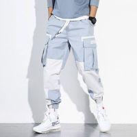 Marchwind Mens Çok Cepler Kargo Harem Pantolon Hip Hop Casual Erkek Parça Pantolon Joggers Pantolon Moda Harajuku Hipster Streetwear Pantolon